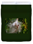 Milkweed Seeds Duvet Cover
