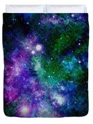 Milky Way Abstract Duvet Cover