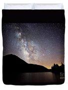 Milky Way At Highland Lakes Duvet Cover