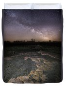 Milky Way On The Rock Duvet Cover