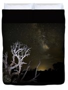 Milky Way Over Arches National Park Duvet Cover