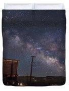 Milky Way Over Bodie Hotels Duvet Cover
