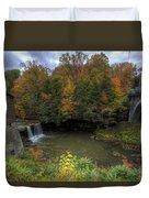 Mill Creek Park In Autumn Duvet Cover
