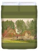 Mill On The Thames At Mapledurham, 1860 Duvet Cover