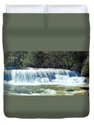 Mill Shoals Waterfall During Flood Stage Duvet Cover