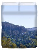 Mill Valley Ca Hills With Fog Coming In Left Panel Duvet Cover