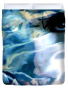 Milla Jovovich Portrait - Water Reflections Series Duvet Cover