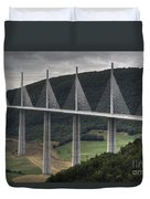 Millau Viaduct In France Duvet Cover