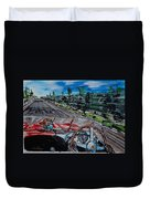 Mille Miglia On Board With Peter Collins Duvet Cover