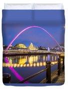 Millennium Bridge - Gateshead Duvet Cover