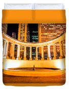 Millennium Monument Fountain In Chicago Duvet Cover by Paul Velgos