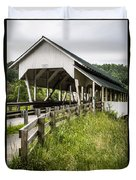 Millers Run Covered Bridge Duvet Cover by Edward Fielding