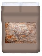 million years ago 2 - An enormeous shell fossile in top of cova des coloms in Es Migjorn - Menorca Duvet Cover