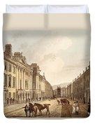 Milsom Street, From Bath Illustrated Duvet Cover