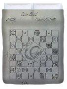Milton Bradley Life Game Patent Duvet Cover