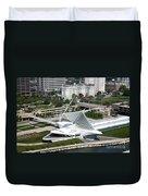 Milwaukee Art Museum Aerial Duvet Cover