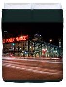 Milwaukee Public Market Duvet Cover