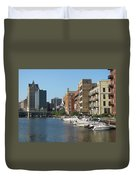 Milwaukee River Architecture 2 Duvet Cover