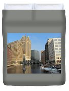 Milwaukee River Theater District 2 Duvet Cover