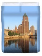 Milwaukee River Theater District 4 Duvet Cover