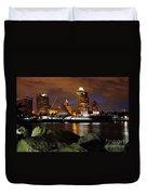 Milwaukee Skyline At Dusk Duvet Cover