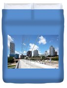 Milwaukee Wisconsin Skyline Duvet Cover