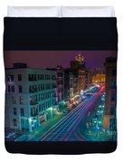 Milwaukee's Evening Active Glow Duvet Cover