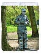 Mime In A Park In Tallinn-estonia Duvet Cover