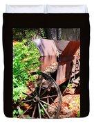 Mine Cart Lost In Time V2 Duvet Cover