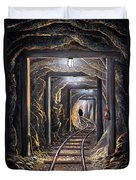 Mine Shaft Mural Duvet Cover