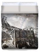 Mine Structure In Silver City Duvet Cover