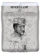 Miner's Lamp Patent Duvet Cover