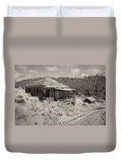 Miner's Shack - Comet Ghost Mine - Montana Duvet Cover