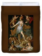 Minerva Victorious Over Ignorance Duvet Cover
