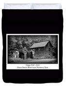 Mingus Mill -- Black And White Poster Duvet Cover