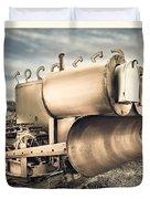 Mini Excavator Mailbox Duvet Cover