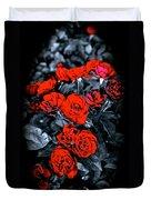 Mini Roses On Walk Duvet Cover