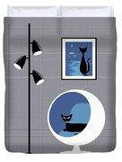 Mini Space Cat Duvet Cover