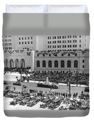 Miniature La City Hall Parade Duvet Cover