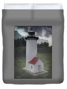 Miniature Lighthouse Duvet Cover