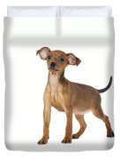 Miniature Pinscher Puppy Duvet Cover