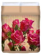 Miniature Roses Duvet Cover