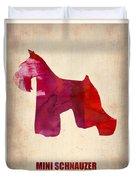 Miniature Schnauzer Poster Duvet Cover by Naxart Studio