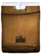 Miniature Templar Church Duvet Cover