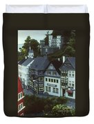 Miniature Village Duvet Cover