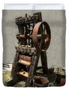 Mining Portable Stamp Mill Duvet Cover by Daniel Hagerman