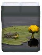 Mink Frog On Lilypad  Duvet Cover