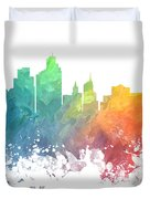 Minneapolis Skyline Colored Duvet Cover