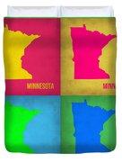 Minnesota Pop Art Map 1  Duvet Cover