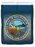 Minnesota State Seal Duvet Cover